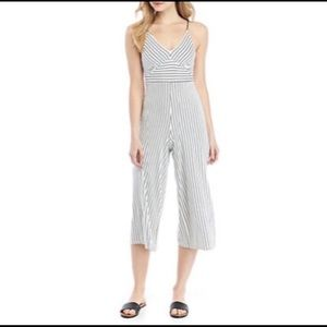 NWOT Polly& Esther Striped Cropped Jumpsuit
